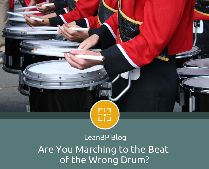 image of drummers in marching band